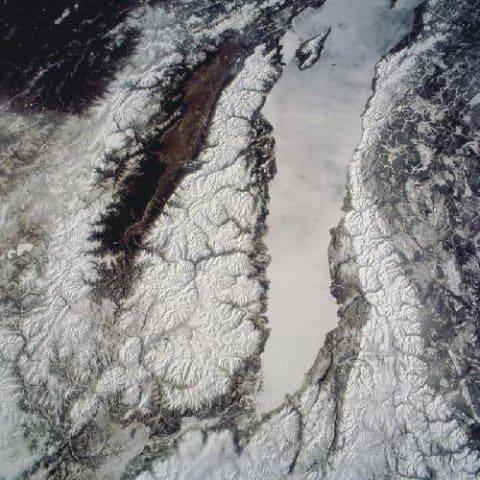 Баргузинский хребет с большой высоты