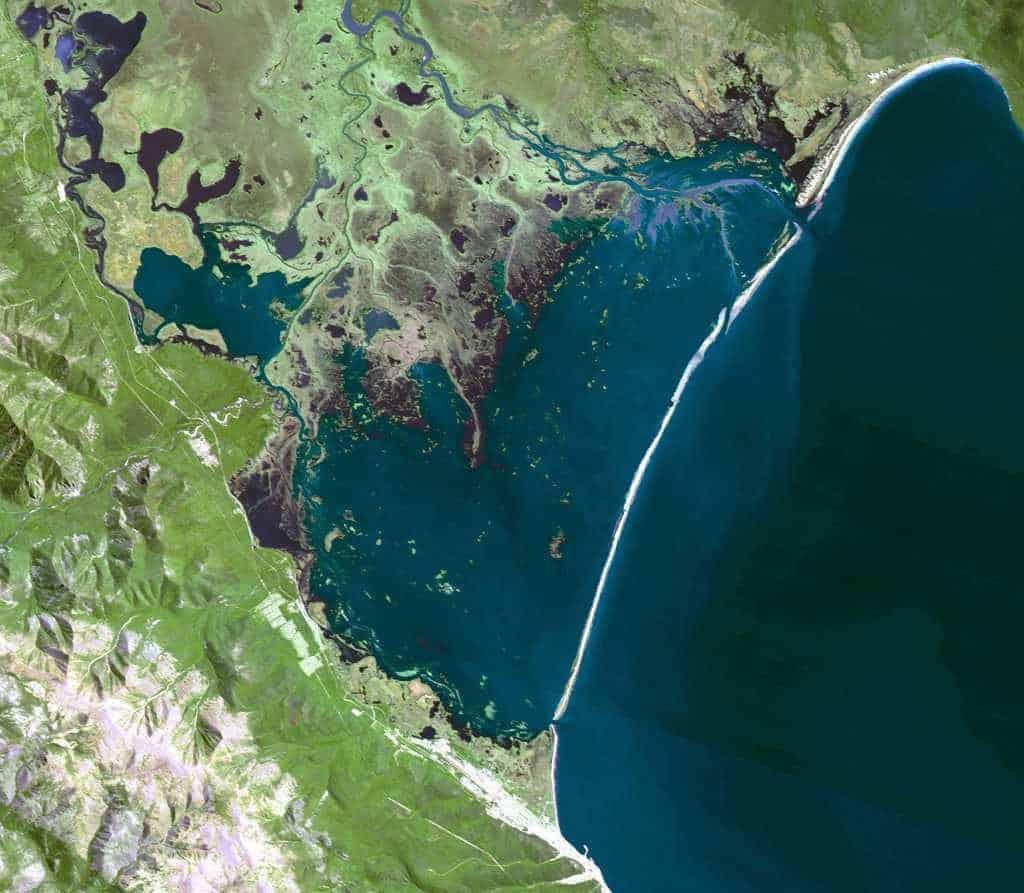 Остров Ярки из космоса
