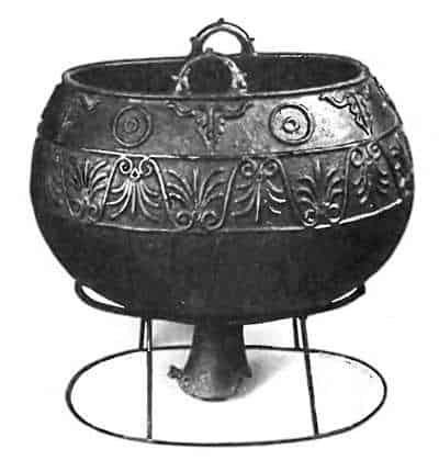 монгольский бронзовый котел