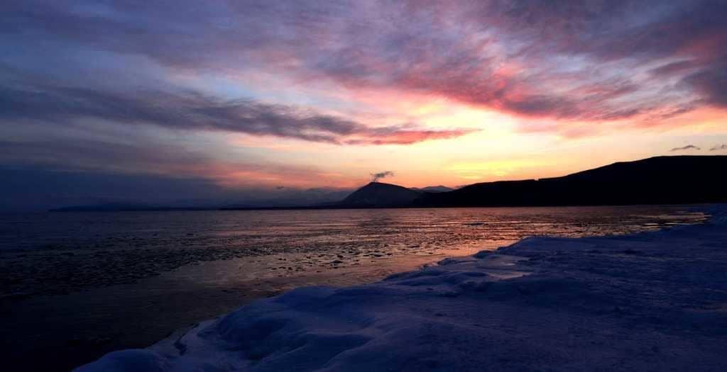Закат на Севере Байкала
